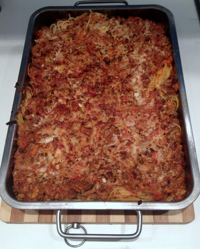 Spaghete bolognese la cuptor - Sunday Chef