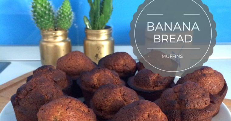 Banana bread muffins – briose de pe alta lume