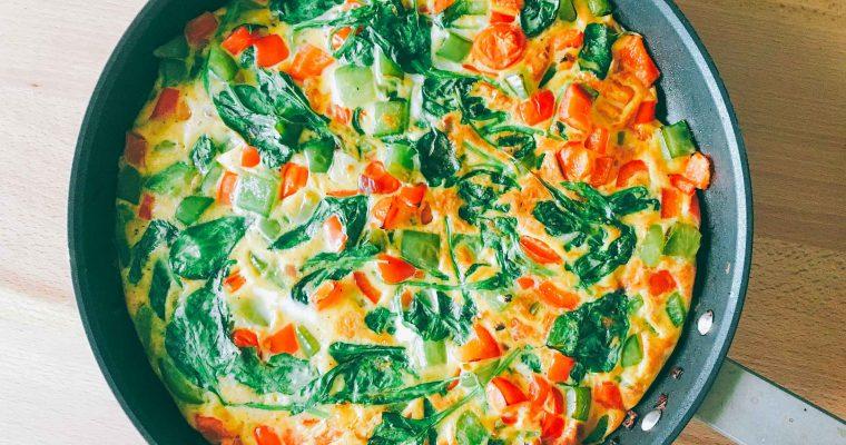 Frittata cu toate legumele din frigider
